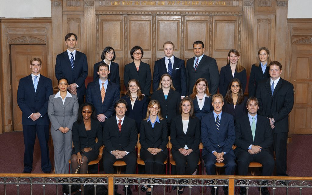 2006-2007 Bulletin Group Picture in Court room