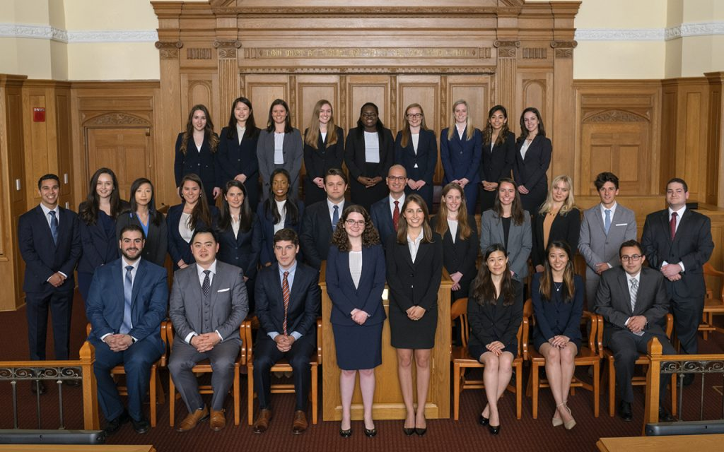 2016-2017 Bulletin Group Picture in Court room