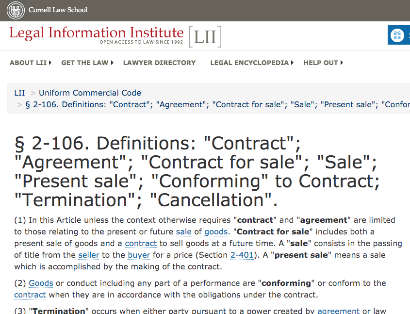screenshot of UCC with high contrast, underlined links, and structured headings