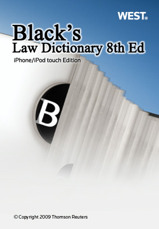 Black's Law Dictionary 8th Edition iPhone app