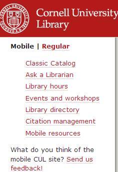 CUL mobile site