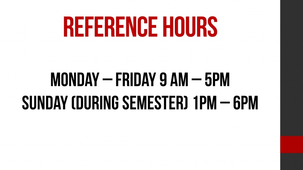 reference hours