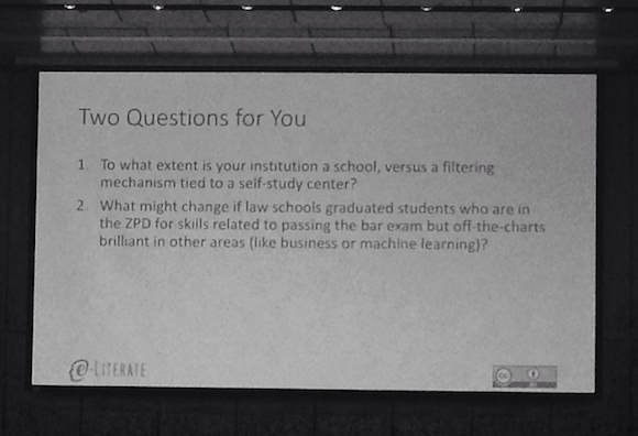Question: To what extent is your institution a school, versus a filtering mechanism tied to a self-study center?