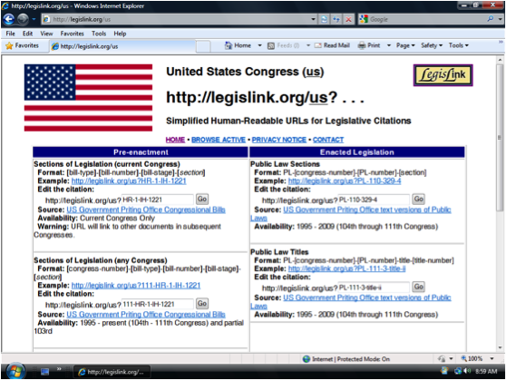 LegisLink Screen Shot