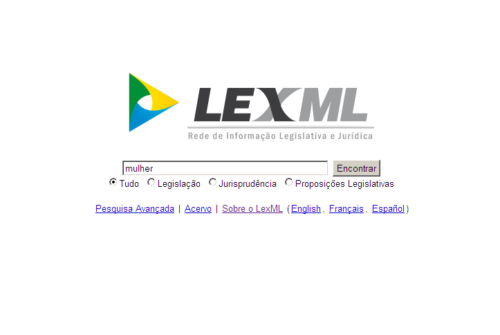 "LexML ""Find"" Page"