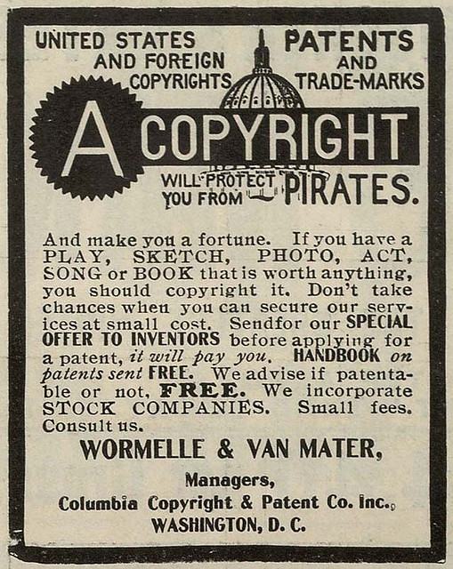 A Copyright Will Protect You From Pirates - A Copyright Will Protect You From Pirates - by Ioan Sameli - http://bit.ly/lJrePv. Licensed under a Creative Commons by-sa 2.0 license