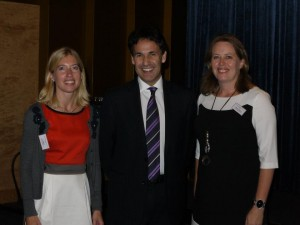Professor Richard Susskind with VQ Founders Ann Björk and Helena Hallgarn at VQ Forum.