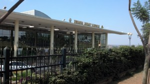 View of the Kigali Public Library in Kigali, Rwanda.