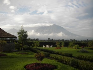 A view of the volcanoes in the Northern Province of Rwanda.
