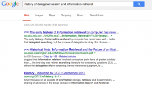 A search for delegated search